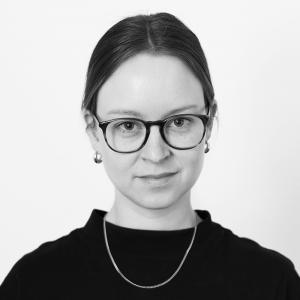 Schwarz-Weiß-Portrait von Yana Prinsloo