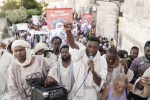 Matera, Italy. The demonstration