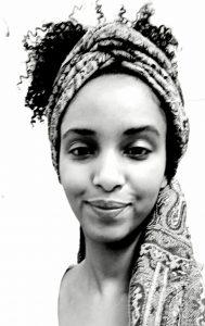 Schwarz-weiß-Foto von Selamwit Mulugeta Zewdie.