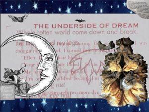 Eine Bild-Collage, im Hintergrund eine Sternenhimmel, davor ein Text mit dem Titel